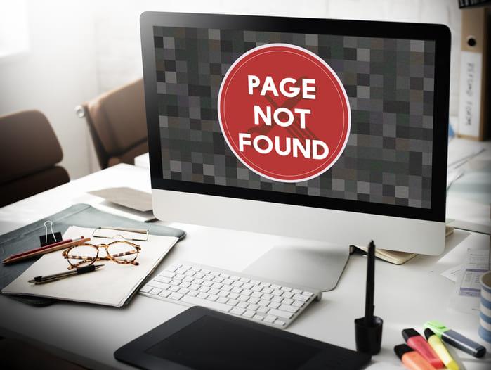 Error 404 Not Found (No encontrada)